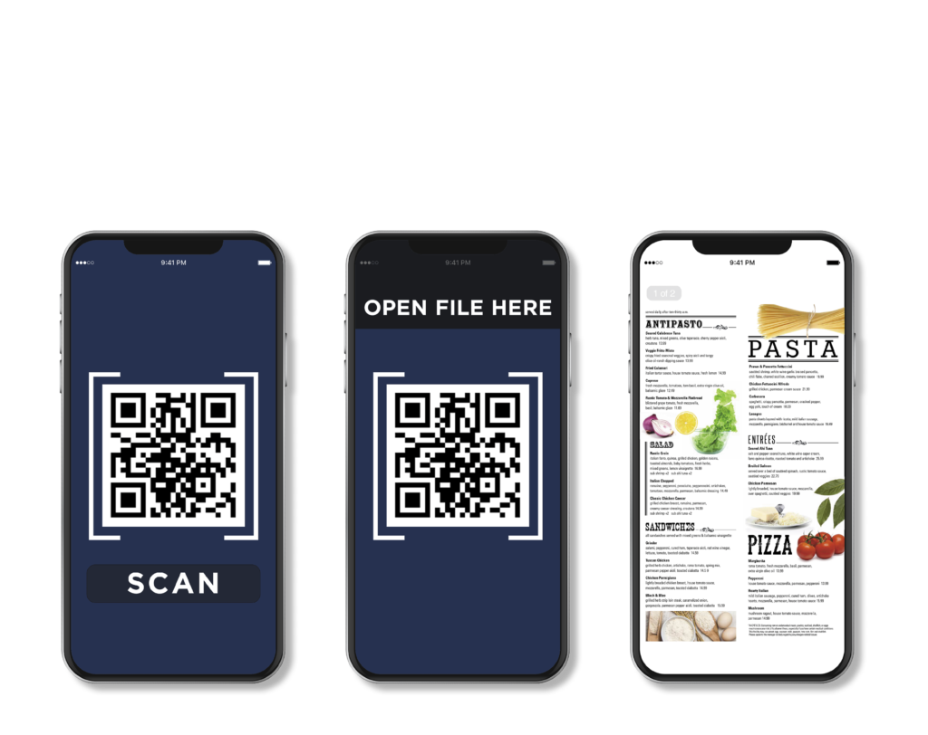 To view the QR code menu, just scan, open, & order.